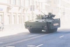 воины русского парада армии маршируя Стоковое фото RF