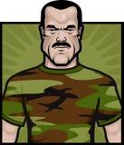 воин армии иллюстрация вектора