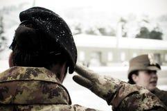 воин офицера армии женский итальянский Стоковые Изображения RF