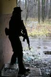 воин силуэта Стоковое Изображение RF