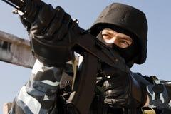 воин стрельбы пушки Стоковое Изображение