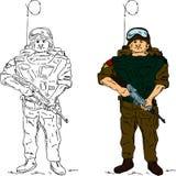 воин удерживания пушки Стоковое Фото