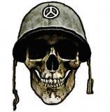 воин шлема американской армии мертвый Стоковая Фотография