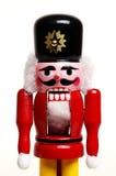 воин Щелкунчика деревянный Стоковая Фотография RF