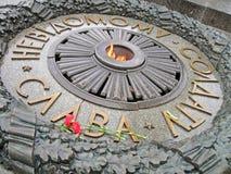 воин языка славы к украинскому неисвестню стоковое изображение
