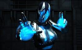 воин cyborg Стоковые Изображения
