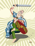 воин gael celt Иллюстрация штока