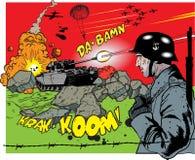 война взрыва элементов книги шуточное Стоковая Фотография RF