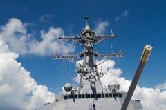 война военного корабля разорителя Стоковое фото RF