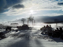 война дорог Стоковое фото RF