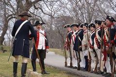 война за независимость в США reenactment Стоковая Фотография