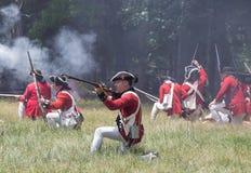 война за независимость в США reenactment Стоковое Фото