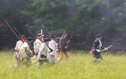 Война за независимость в США Reenactors как патриоты Стоковые Фото