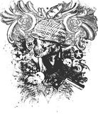 война иллюстрации ада Стоковое Изображение