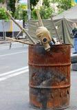 Война и разрушение стоковая фотография rf