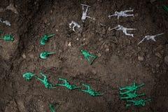 Война оловянных солдатиков Стоковые Фото