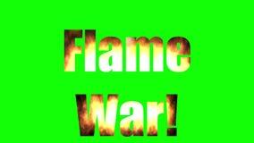 Война пламени - зеленый экран иллюстрация вектора