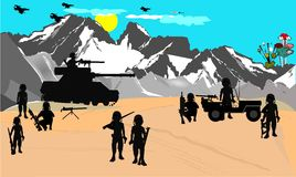 Война пустыни Стоковые Изображения