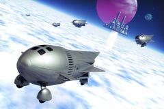 война ракет иллюстрация вектора