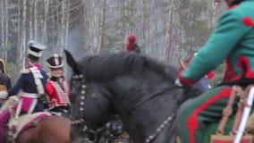 Война 1812, сабля воюет, Гусары, cavalrymen видеоматериал