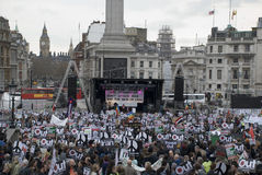 война стопа протеста london Стоковые Фотографии RF