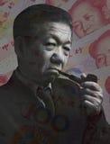 Война стратегии китайского бизнесмена финансовая Стоковое Изображение RF