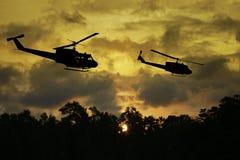 Война США против Демократической Республики Вьетнам - воссоздание художника Стоковые Фото