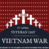 Война США против Демократической Республики Вьетнам память дня Стоковые Фото