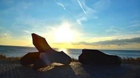 Война 2 слова союзных войск памятника nollestrand Vlissingen Стоковое фото RF
