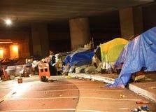 Война Gentrification: Бездомные лагеря области Окленд San Francisco Bay Стоковые Фотографии RF