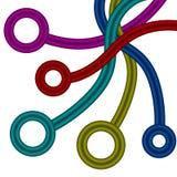двойные multicolor веревочки 3D с кругами Стоковое фото RF