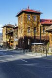 2 двойных виллы в Zakopane в Польше Стоковые Изображения