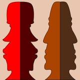 2 двойных профиля Стоковое Фото