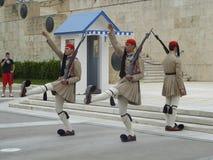 Войска Афин защищают гусын-шаг Стоковые Фотографии RF