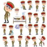 Войска носят болезнь человека стиля Японии Стоковое Изображение