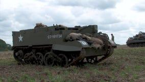 Войска bren бронированное транспортное средство несущей ww2 оружия великобританское акции видеоматериалы