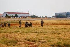 Войска SANDF показывают на авиаполе стоковое фото rf