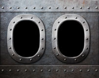 2 войск грузят или окна подводной лодки как предпосылка панка пара стоковая фотография