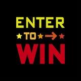 Войдите в для того чтобы выиграть Стоковое Изображение