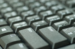 Войдите кнопку на черноте клавиатуры Стоковое Фото