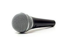 Вокальный конец микрофона вверх стоковые изображения rf