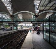 Вокзал города лёвена belia стоковые фотографии rf