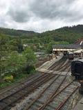Вокзал около реки в вэльсе Стоковое Фото