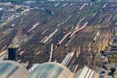 Вокзал Франкфурта-на-Майне Германии центральный сверху Стоковое Изображение RF