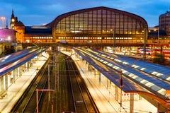 Вокзал Haburg центральный железнодорожный стоковые изображения rf