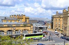 Вокзал великобританского рельса в историческом городе Йорка Стоковое Фото