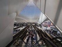 Вокзал в liege-Guillemins Стоковое фото RF