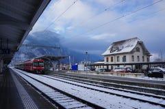 Вокзал Интерлакена западный, Швейцария стоковые фотографии rf
