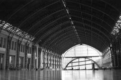 Вокзал черно-белый Стоковое Фото