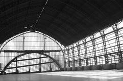 Вокзал черно-белый Стоковое Изображение RF